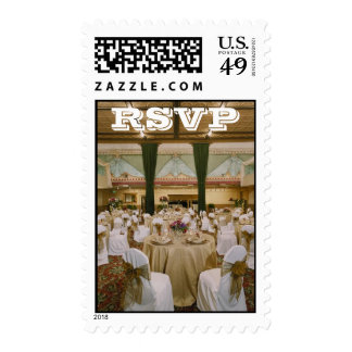 Gold/White RSVP Stamps