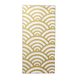 Gold & White Scallop Pattern Napkin