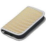 Gold & White Striped Planner
