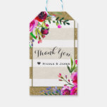 Gold White Stripes Bold Glam Floral Chic Favor Gift Tags