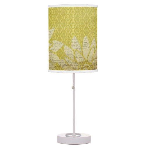 gold white vintage patterned table lamp zazzle. Black Bedroom Furniture Sets. Home Design Ideas