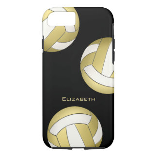 gold white women's volleyball iPhone 7 case
