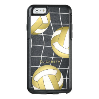 gold white women's volleyball OtterBox iPhone 6/6s case