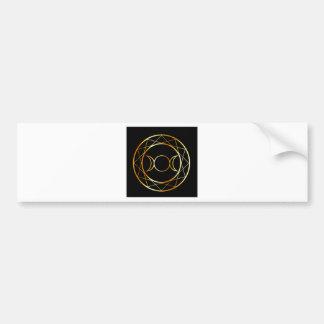 Gold Wiccan symbol Triple Goddess Bumper Sticker