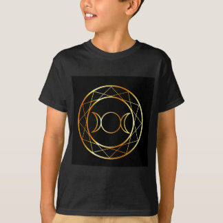 Gold Wiccan symbol Triple Goddess T-Shirt