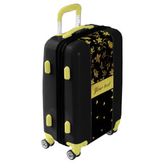 Gold Wildflowers and Scattered Triangles Luggage