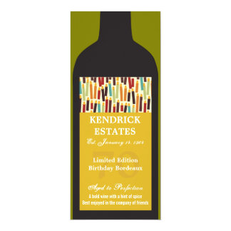 Gold Wine Bottle Party Invitation
