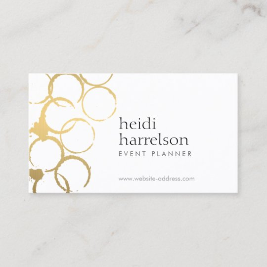Gold wine stains party planner business card zazzle gold wine stains party planner business card colourmoves