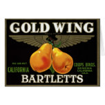 """""""Gold Wing Bartletts"""" Card"""