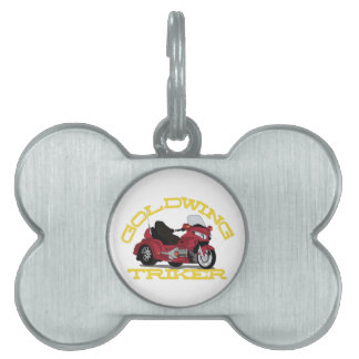 Gold Wing Pet ID Tag