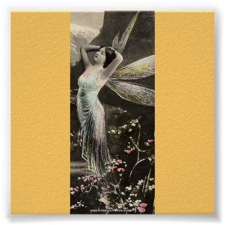 Gold Winged Fairy/Faerie Poster