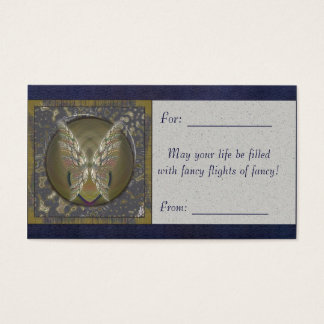 Gold Winged Heart Business Card