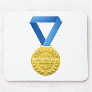 gold winners medal mousemat