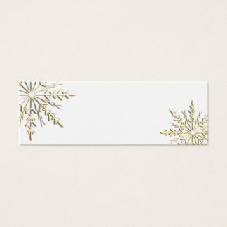Gold Winter Snowflake Gift Tags