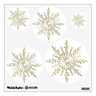 Gold Winter Snowflakes Wall Decals