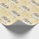 Hand shaped Gold Winter Wonderland 30th Birthday Party Wrapping Paper