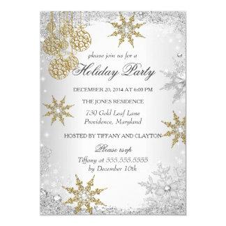 Gold Winter Wonderland Christmas Holiday Party 5 Custom Invites