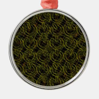 Gold Wire Mesh 3D Power Symbols Metal Ornament