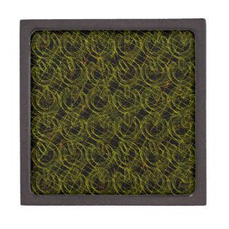 Gold Wire Mesh 3D Power Symbols Premium Keepsake Box