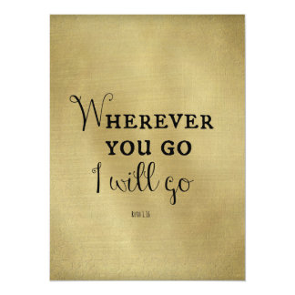 Gold with Bible Verse Wherever you go... Card