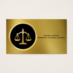 Gold With Scales Of Justice Business Cards at Zazzle