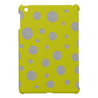 Gold with Silver Polka Dots Case For The iPad Mini