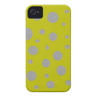 Gold with Silver Polka Dots iPhone 4 Case-Mate Case
