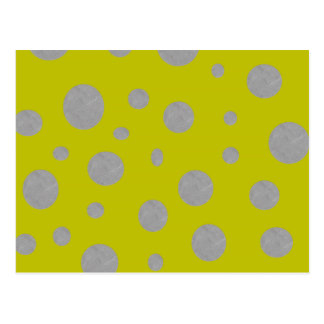 Gold with Silver Polka Dots Postcard
