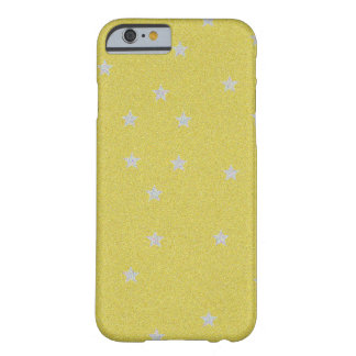 Gold With Silver Stars iPhone 6 Case