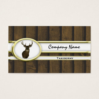 Gold Wood Deer Taxidermy Business Cards