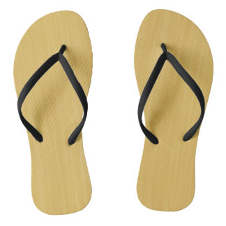 Gold Wood Grain Texture Flip Flops