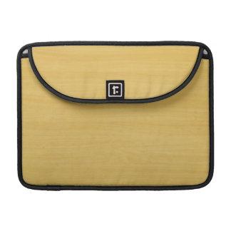 Gold Wood Grain Texture MacBook Pro Sleeve