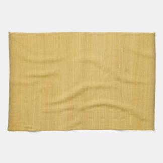 Gold Wood Grain Texture Towel