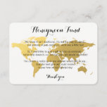 """Gold world map honeymoon fund request wedding card<br><div class=""""desc"""">Gold world map honeymoon fund request wedding card. White and gold template. Find more options in our shop. Can't find what you're looking for? Contact us.</div>"""