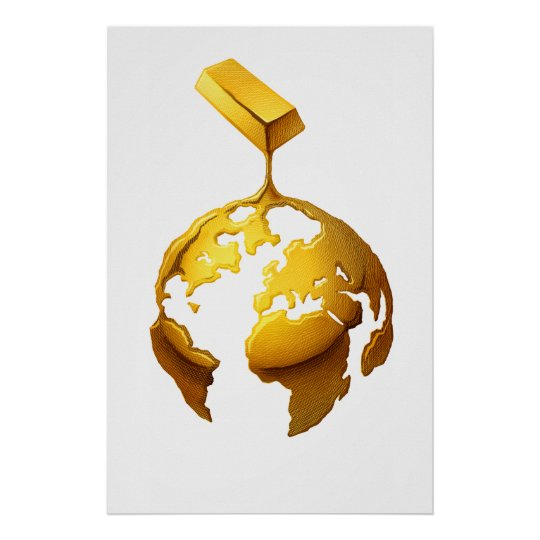 Gold World Poster