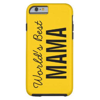 Gold World's Best Mama Custom iPhone 6 Case