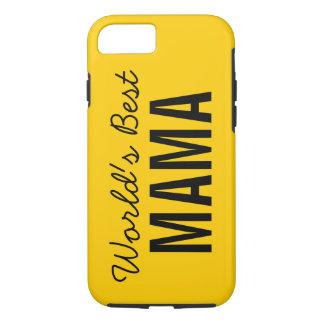 Gold World's Best Mama Custom iPhone 7 Case