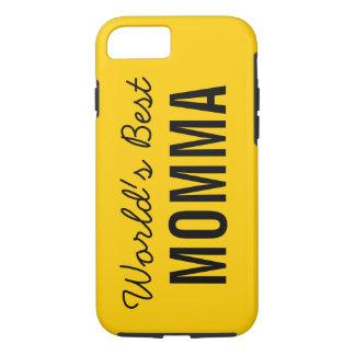 Gold World's Best Momma Custom iPhone 7 Case