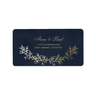 Gold wreath Address Labels