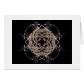 Gold Yarn Ball Fractal Art Cards