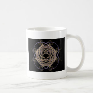 Gold Yarn Ball Fractal Art Coffee Mug