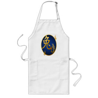 Gold Year Of The Rabbit Oval Aprons