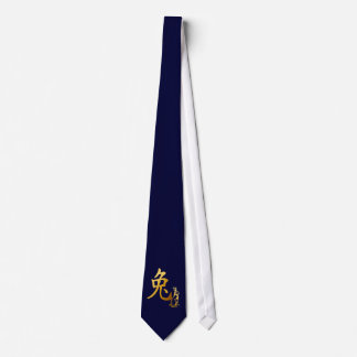 Gold Year Of The Rabbit Tie