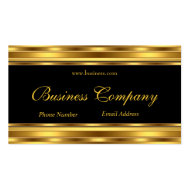 Gold Yellow Black Elegant Classy Business Cards