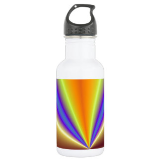 Gold, Yellow, Blue and Purple Abstract Light 18oz Water Bottle
