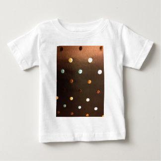 gold yellow bronze brown blue polka dots baby T-Shirt
