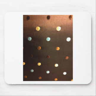 gold yellow bronze brown blue polka dots mouse pad