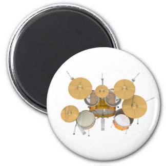 Gold / Yellow Drum Kit: Refrigerator Magnets