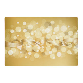 gold,yellow,glitter,bokeh,orbs,circle,pattern,star placemat
