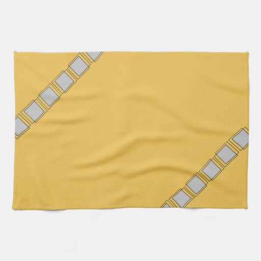 Grey Dish Rags: Gold Yellow Grey Modern Kitchen Dish Towels 3